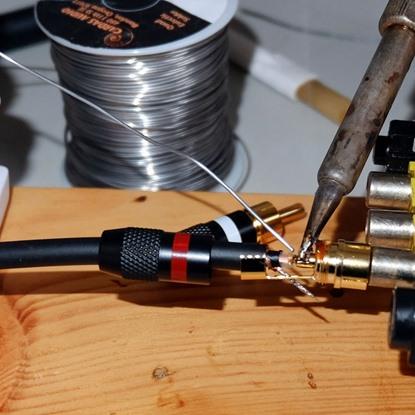 rca plug soldering